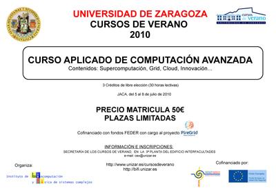 """BIFI Organiza: """"Curso de computación avanzada"""" en Jaca (Huesca) del 5 al 8 de Julio"""